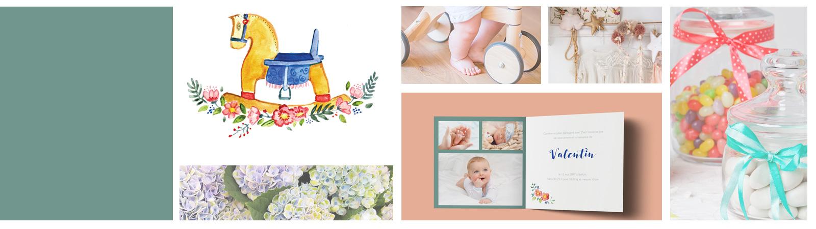 étiquettes pour boite à dragées naissance