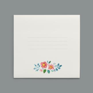 Enveloppe fleurie À Dada sur mon Bidet / enveloppe moineau piou piou