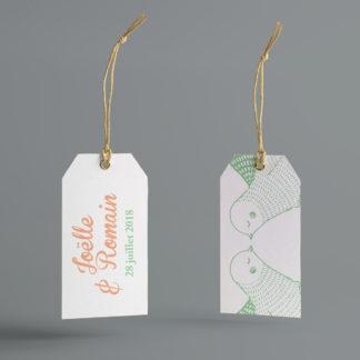 étiquettes de boite à dragées Colombes