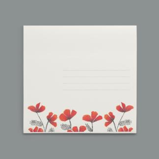 enveloppe Fleurs Séchées