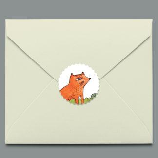 autocollant petit renard