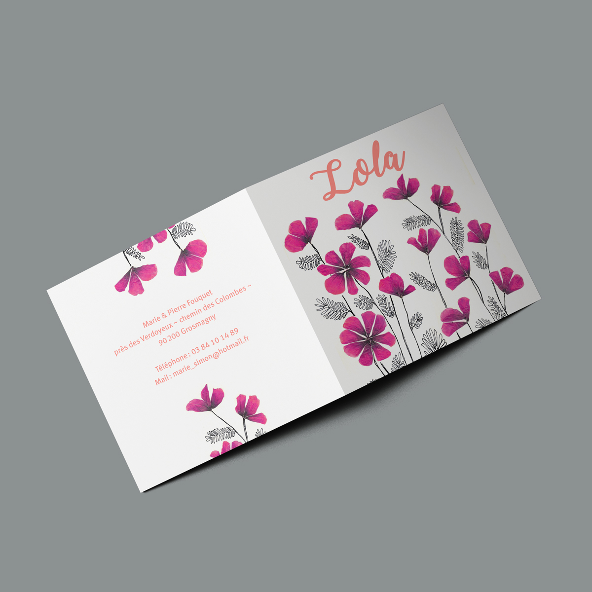 faire part naissance fleurs s ch es les faire part de la cigogne. Black Bedroom Furniture Sets. Home Design Ideas