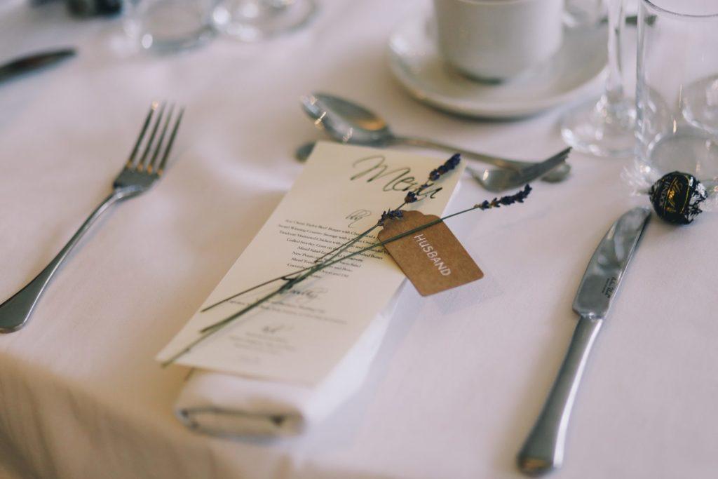 Décorer ma table de mariage menu