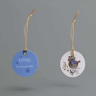 étiquette boite à dragées Chaton