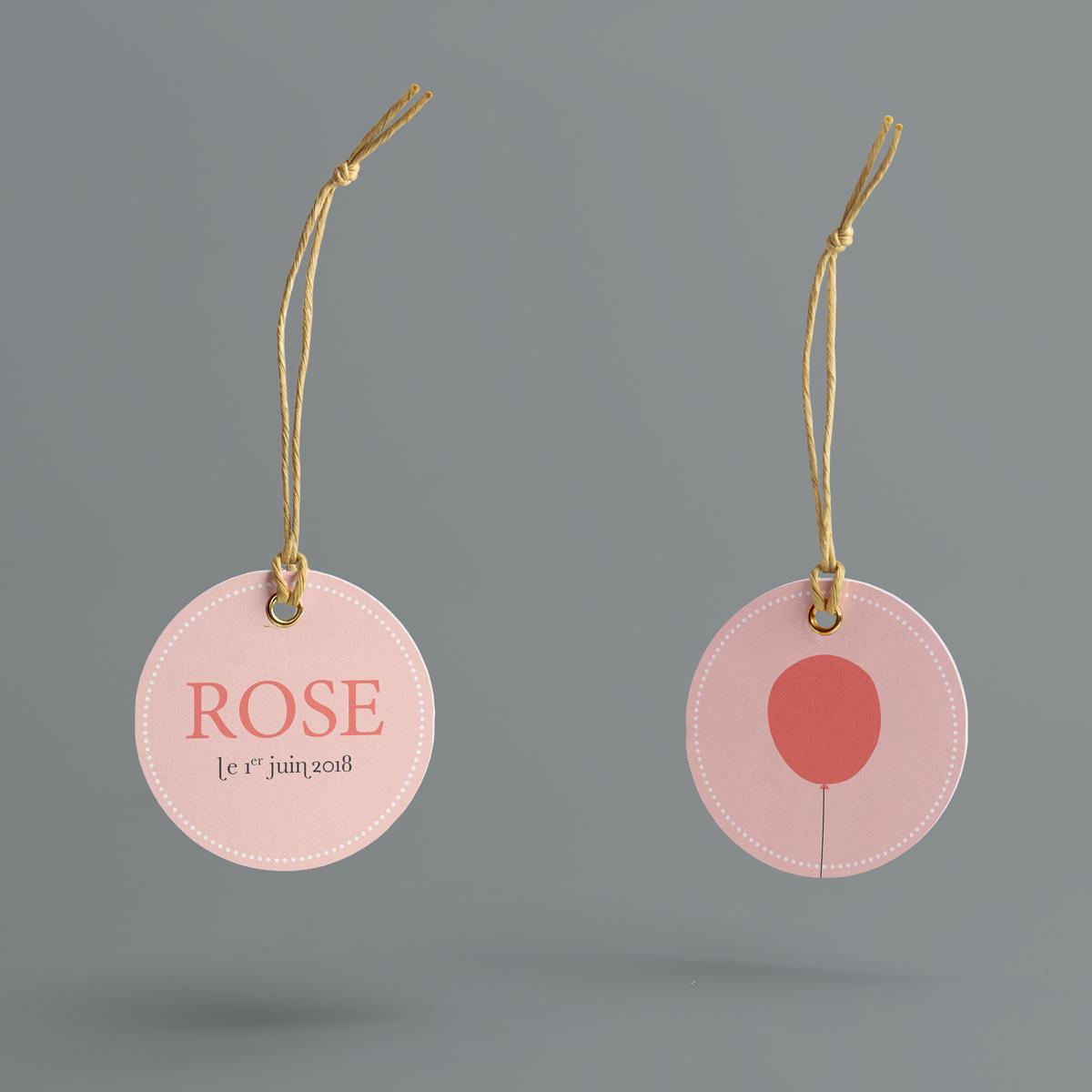 Rouge Gorge : étiquettes pour boite à dragées naissance